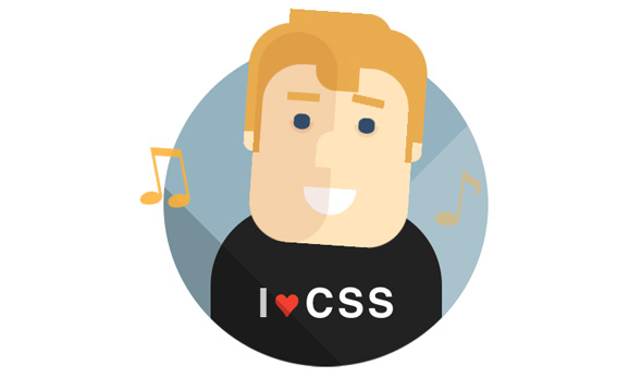 I Love CSS character