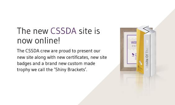 New CSSDA Site & Stunning New Trophy