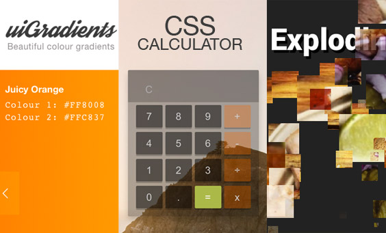 20 Latest CSS & JS Tuts + Experiments