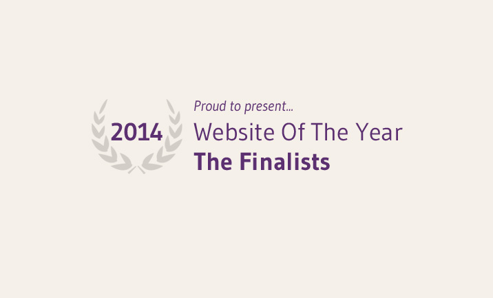 Proudly, The 2014 Website Of The Year Finalists