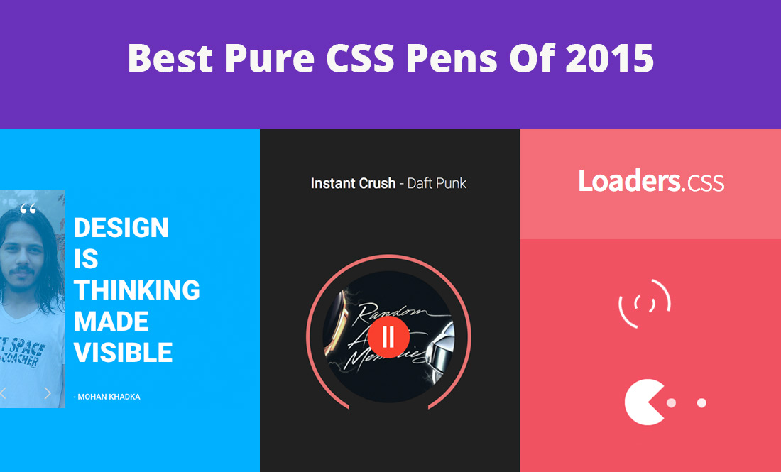 Best Pure CSS Pens of 2015
