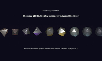 The New WebGL Award Moniker By CSSDA & Tool