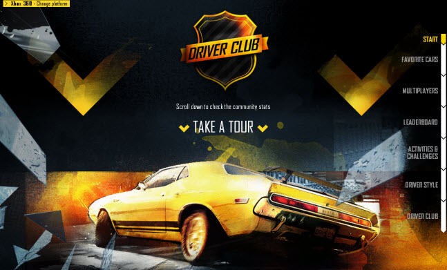 DRIVER CLUB - Game trends