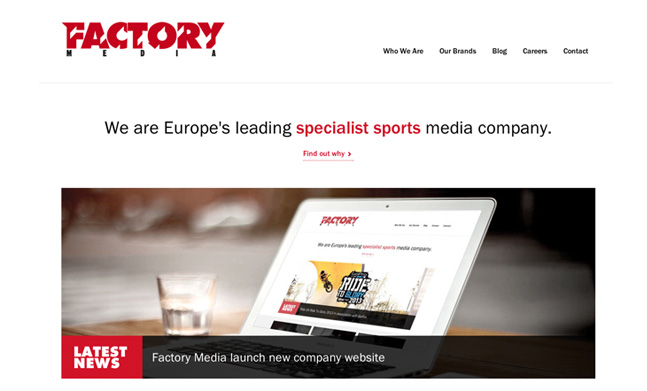 Factory Media website