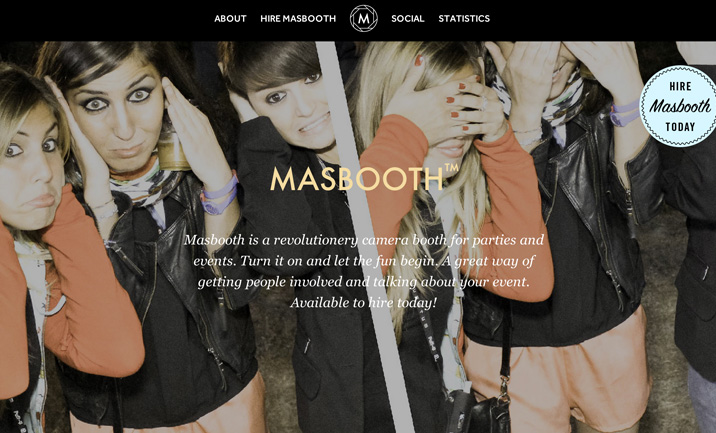 MasBooth website