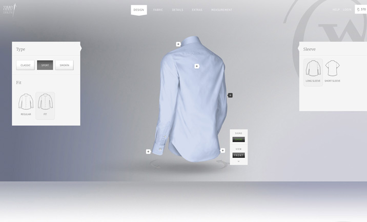 Vakko Made To Measure website
