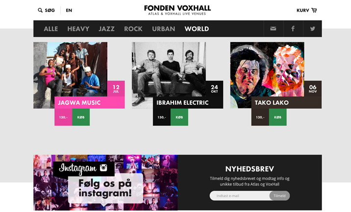 Fonden VoxHall website
