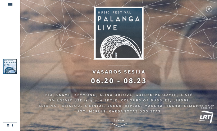 Palanga Live Music Festival website