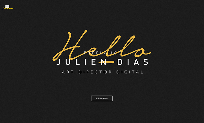 Julien Dias - Art director website