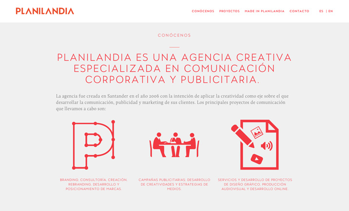 Planilandia Agencia Creativa website