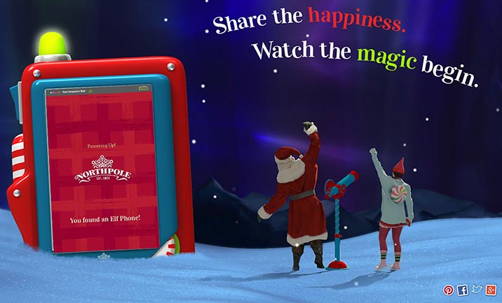 Northpole Share the Happiness website