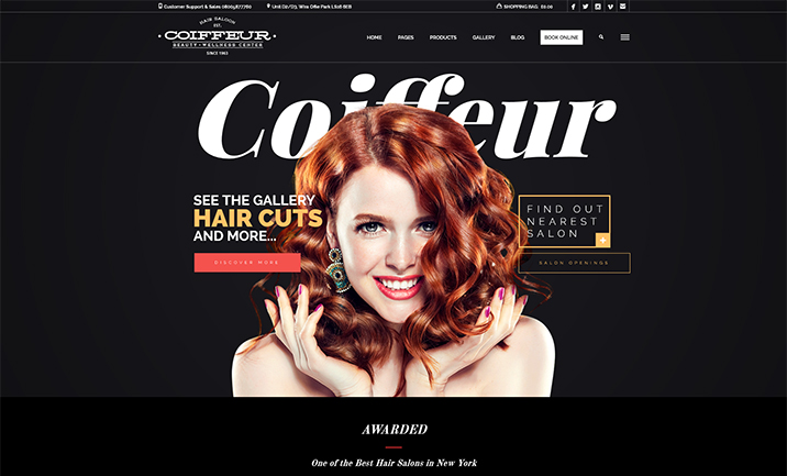 Coiffeur - Hair Salon WordPress designed by ozythemes