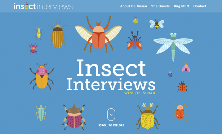 Insect Interviews website