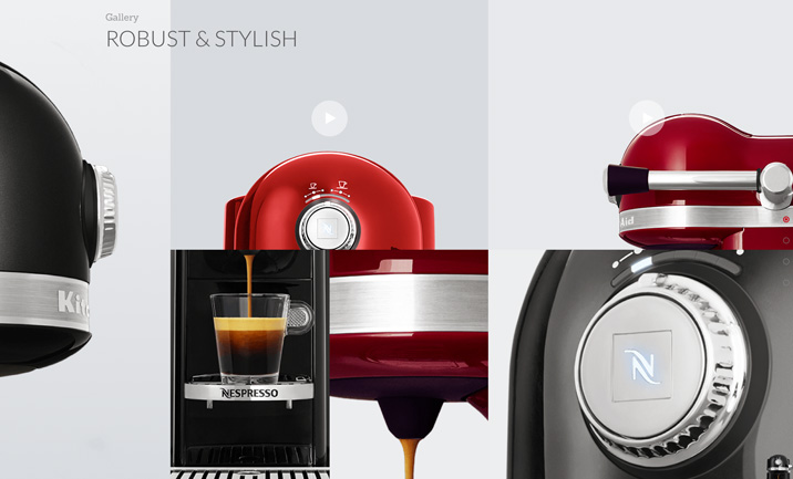Nespresso by Kitchenaid website