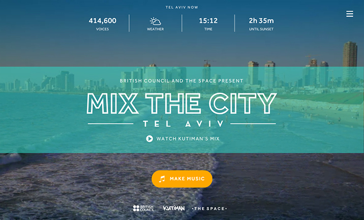 Mix the City website