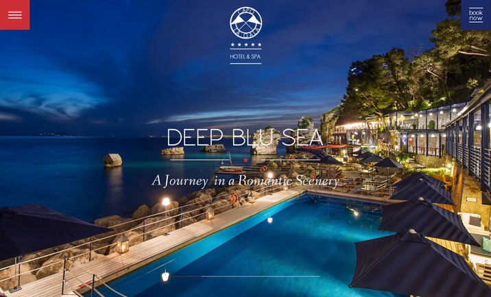 Capo la gala luxury hotel designed by mediasoul for Hotel web design