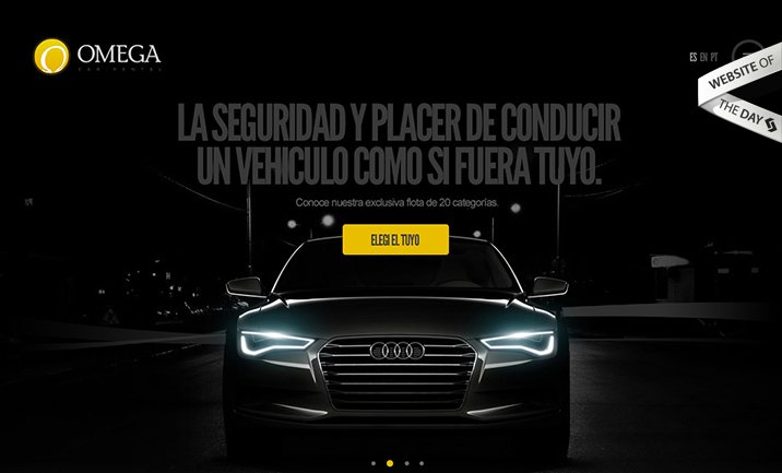 Omega Car Rental website