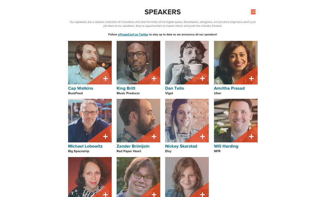 Forge Conference 2015 website