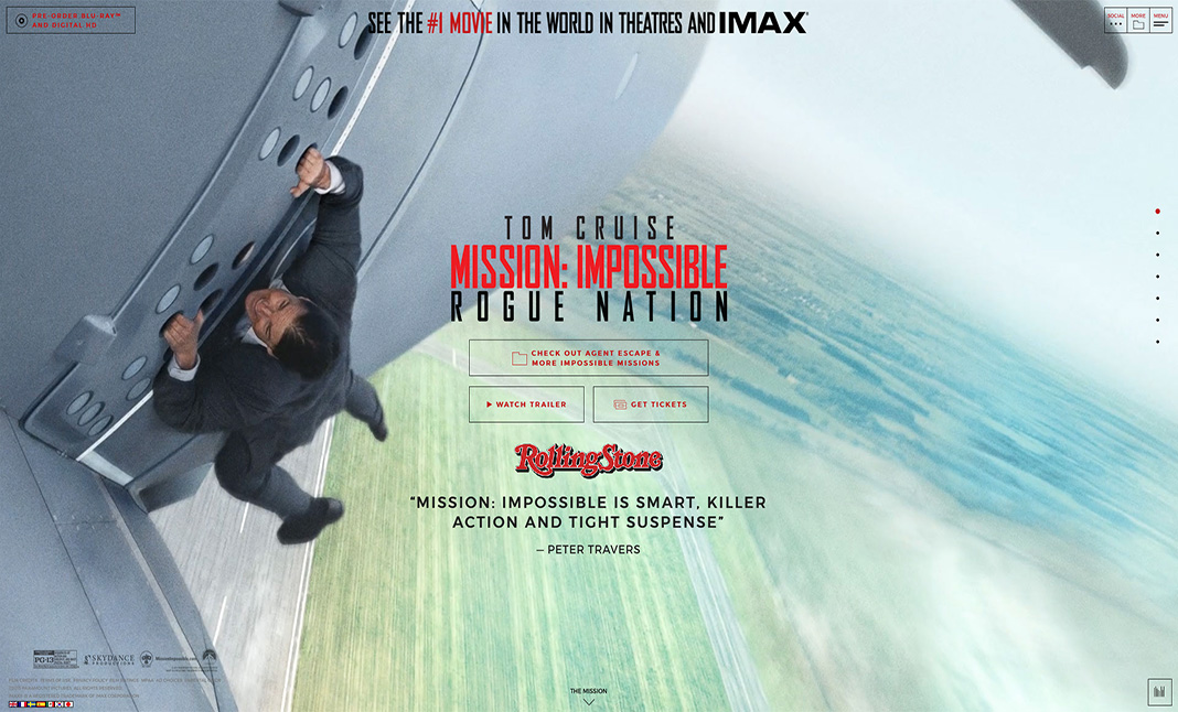 Mission: Impossible Rogue Nation website