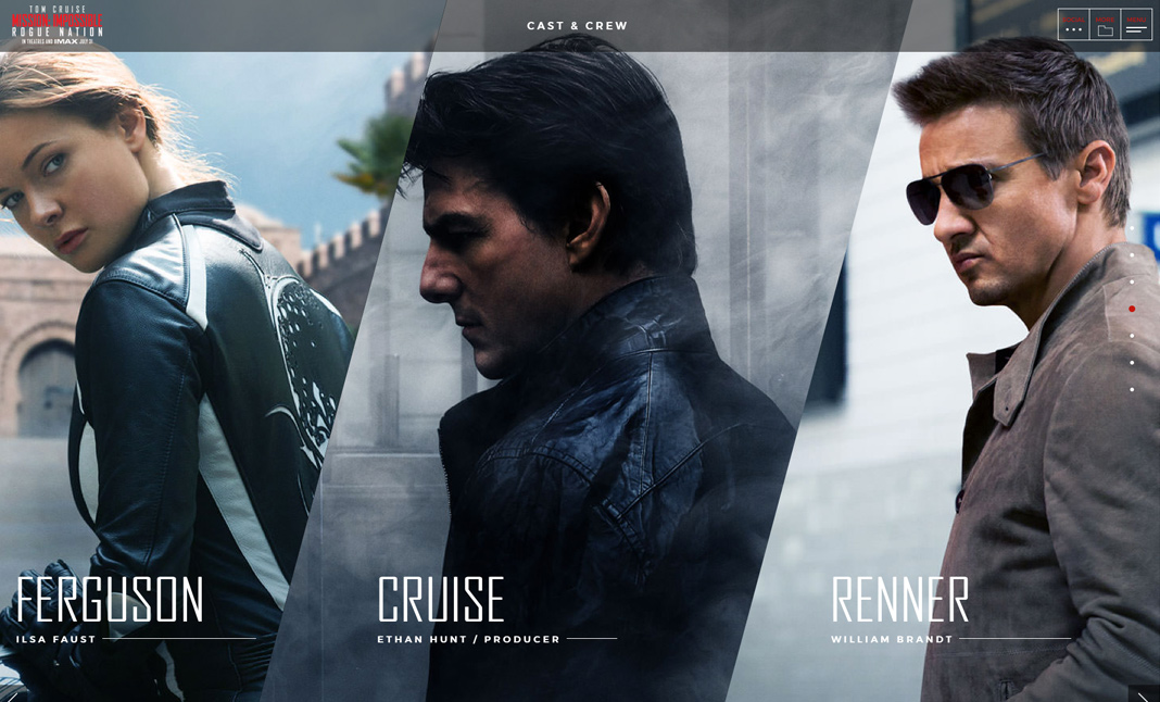 Mission: Impossible Rogue Nation website - image 2