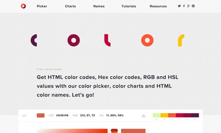 HTML Color Codes website