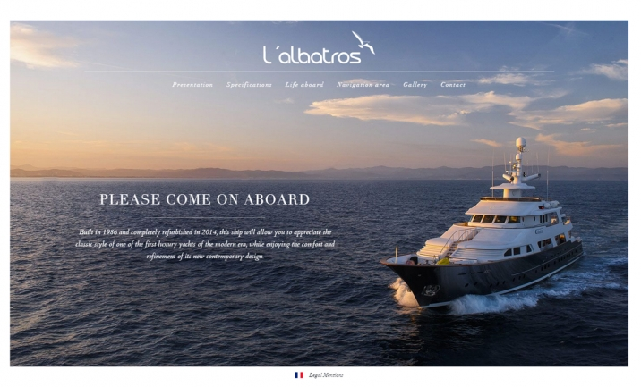 Yacht Albatros website