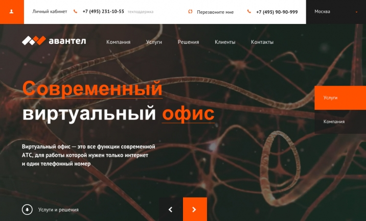 Avantel website