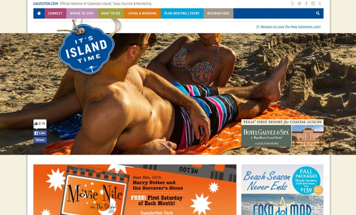 Galveston.com website