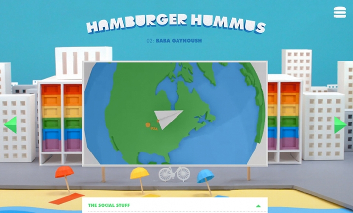 Hamburger Hummus website