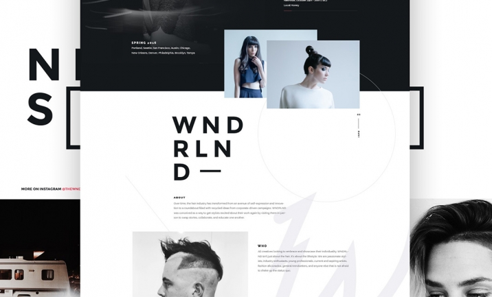 The WNDRLND website