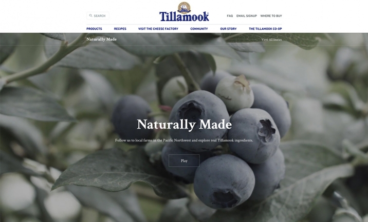 Tillamook Naturally Made website