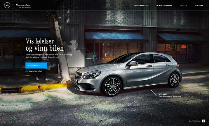 Mercedes - Your feelings website