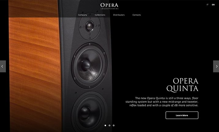 Opera Loudspeakers website