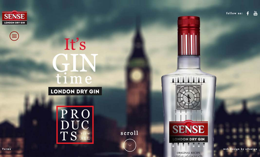 6th Sense London Dry Gin website
