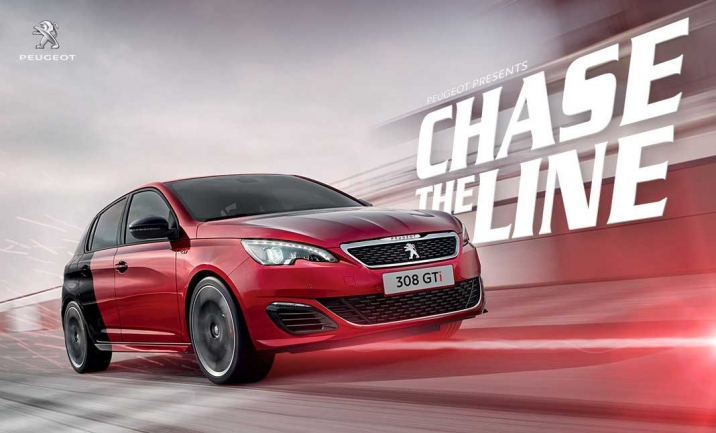 Peugeot GTi - Chase the Line website