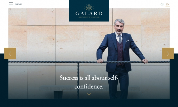 GALARD - Gentlemen's Tailoring website