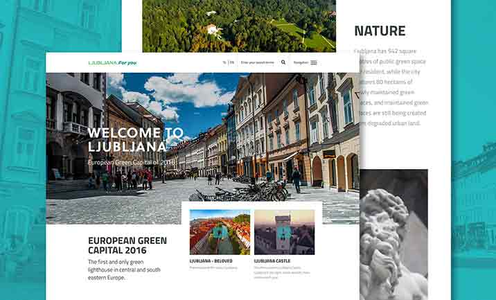 Green Ljubljana website