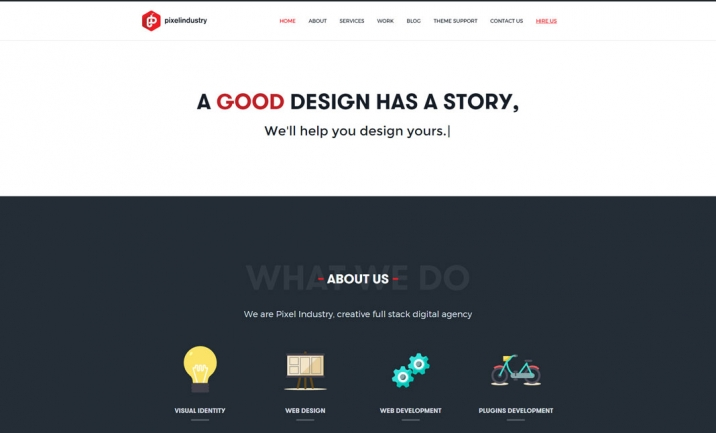 Pixel Industry Digital Agency website