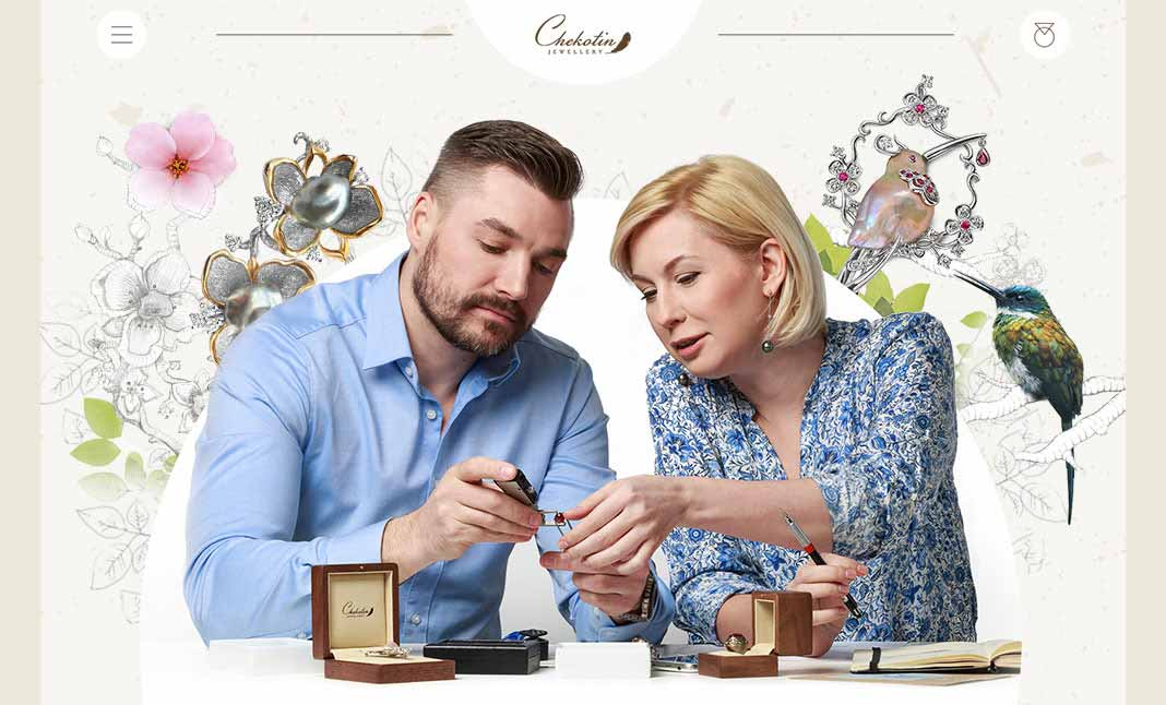 Chekotin Jewellery website