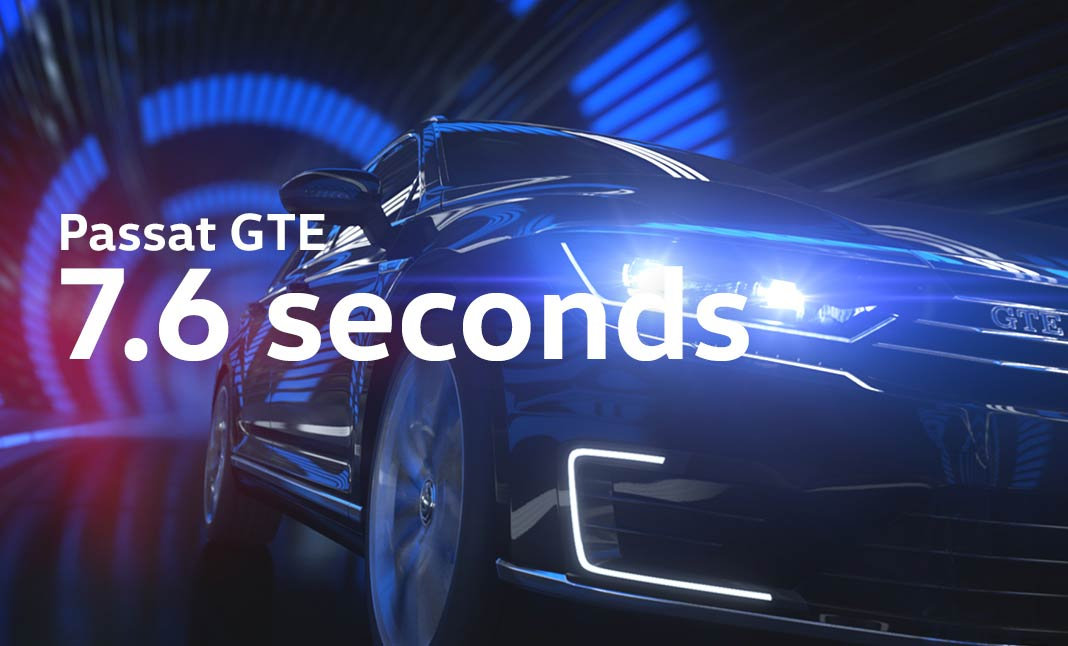 7.6 Seconds With Passat GTE website