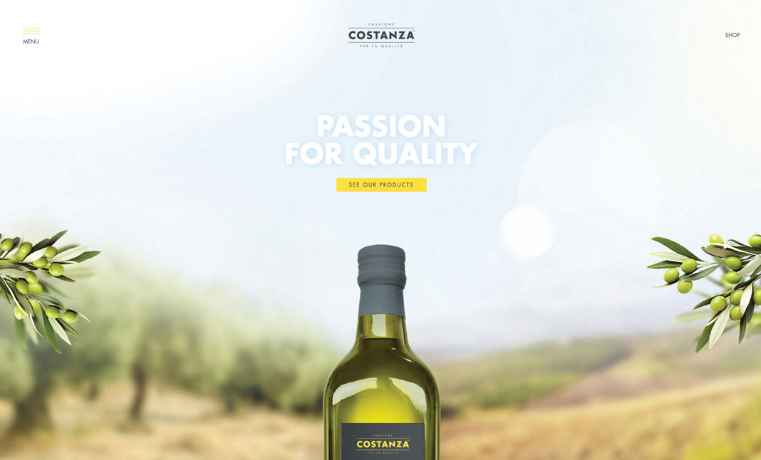 Costanza Olive Oil website