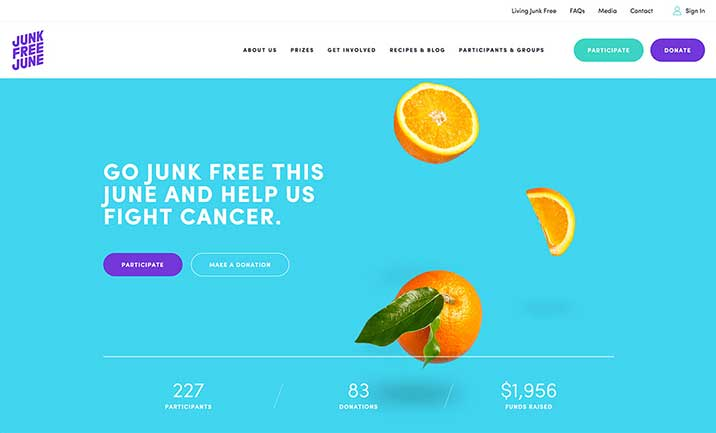 Junk Free June  website