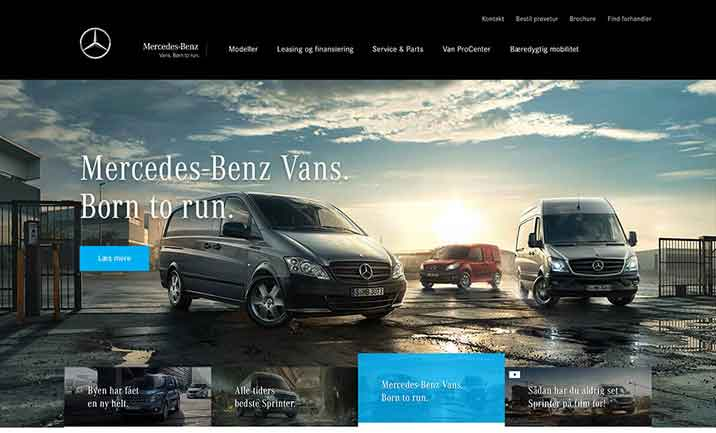 Mercedes-Benz Vans website
