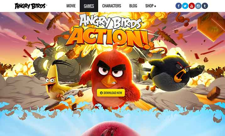 Angry Birds Website website
