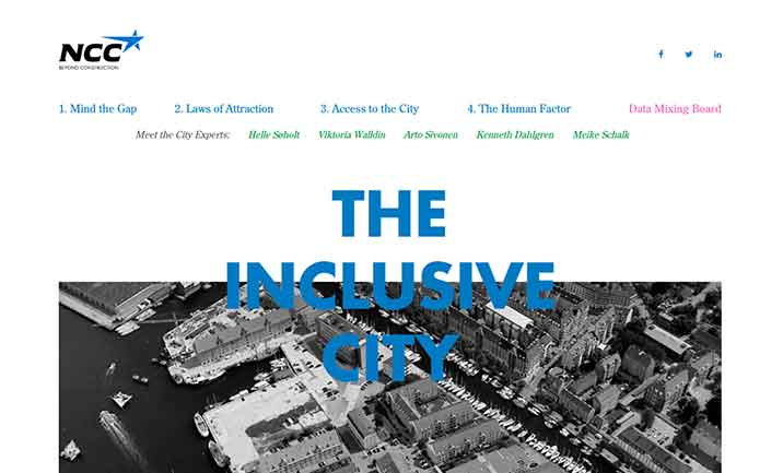 The Inclusive City website