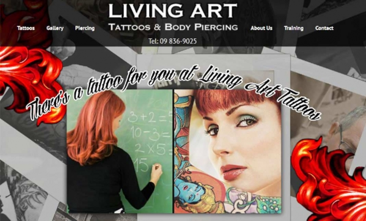 Tattoo Studio With Excellent SEO website