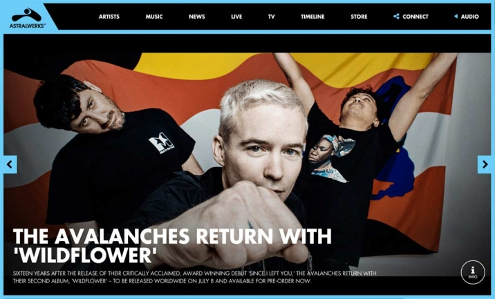 Astralwerks Record Label website