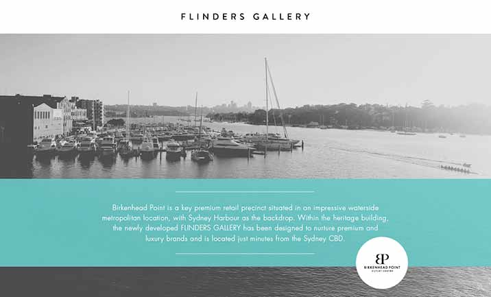 Flinders Gallery website