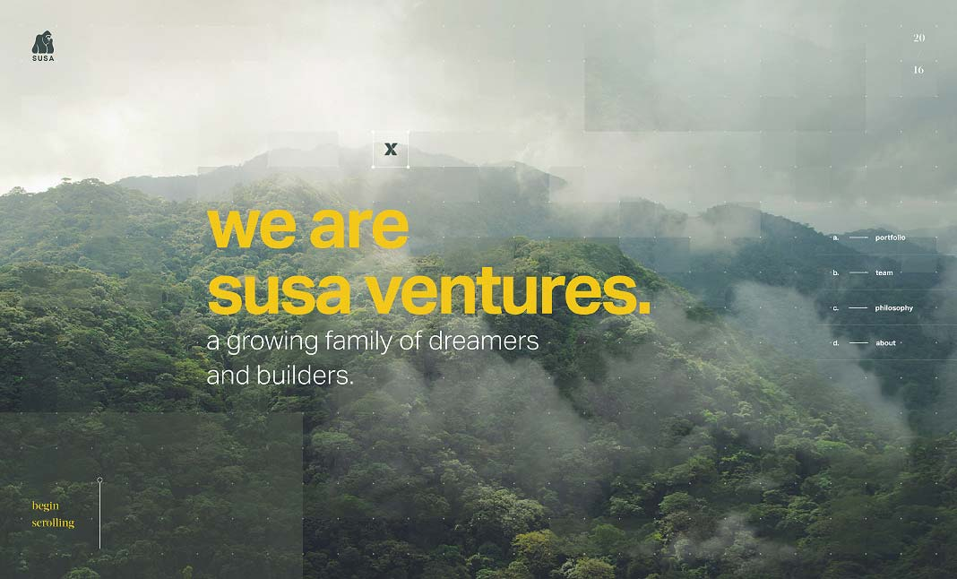 Susa Ventures website