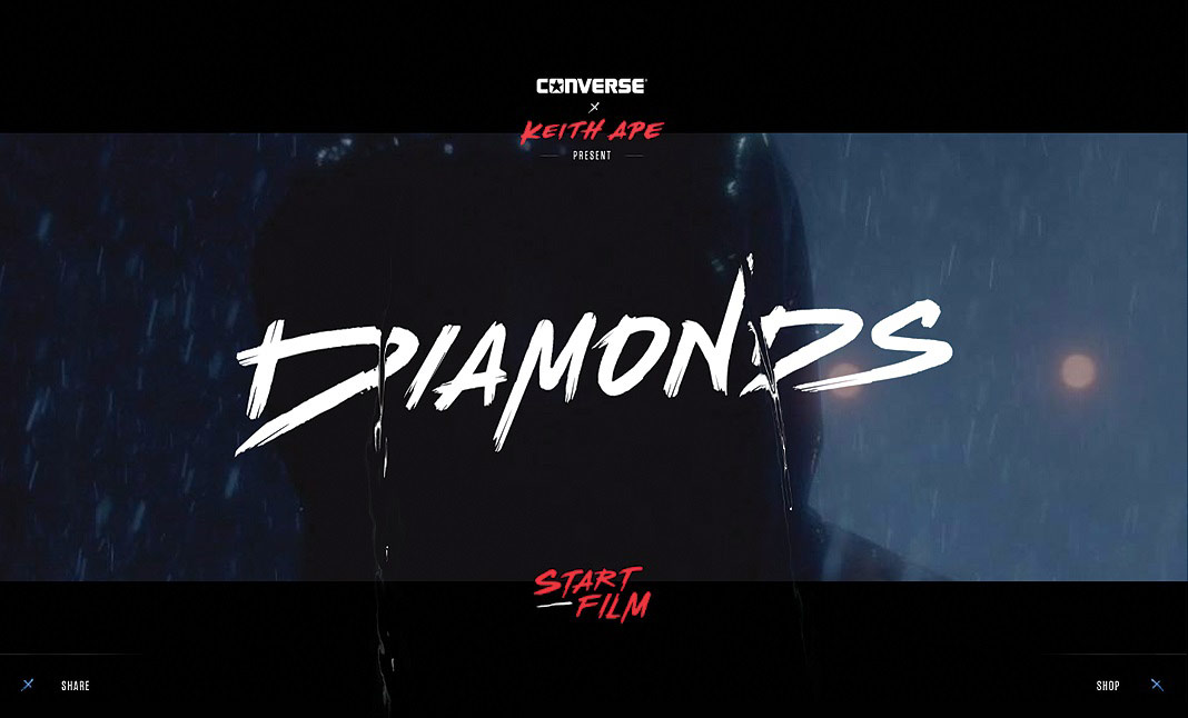 Converse Diamonds website